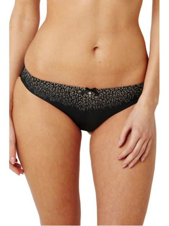 Panache Black Odette Animal Brief