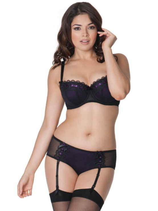 Curvy Kate Tease Black-Plum