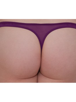 Scantilly Peek A Boo tanga violet