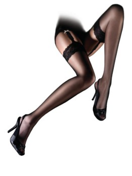 Aristoc Lace Top Stocking Black