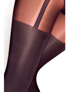 PP Curves Suspender Tights ARE7 BLK