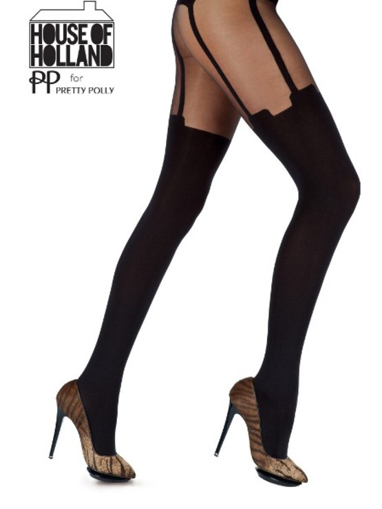 HH Super Suspender Tights AFE5 Black