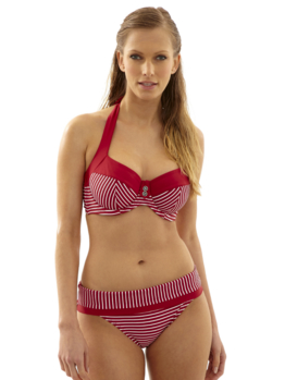 Plavky Panache Britt Stripe top Red