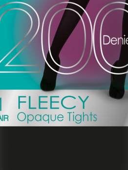 PP 200DEN Fleecy Tights PNAVA9 Black