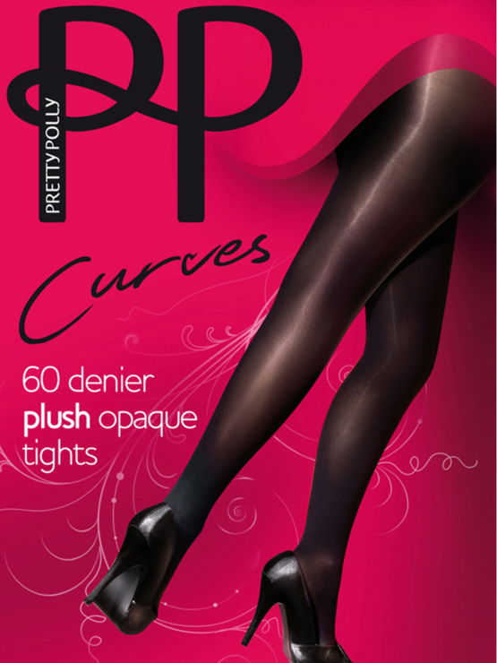 PP Curves Plush Opaque 60DEN Tights PMAPP5 Black