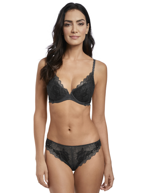 Wacoal Lace Perfection push up WE135003 Charcoal