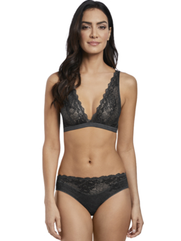 Wacoal Lace Perfection bralette WE135008 Charcoal