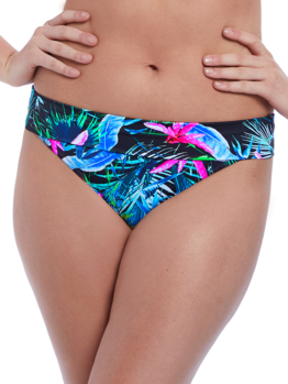 Plavky Freya Jungle Flower ohrn kalhotky AS5846 Black Tropical