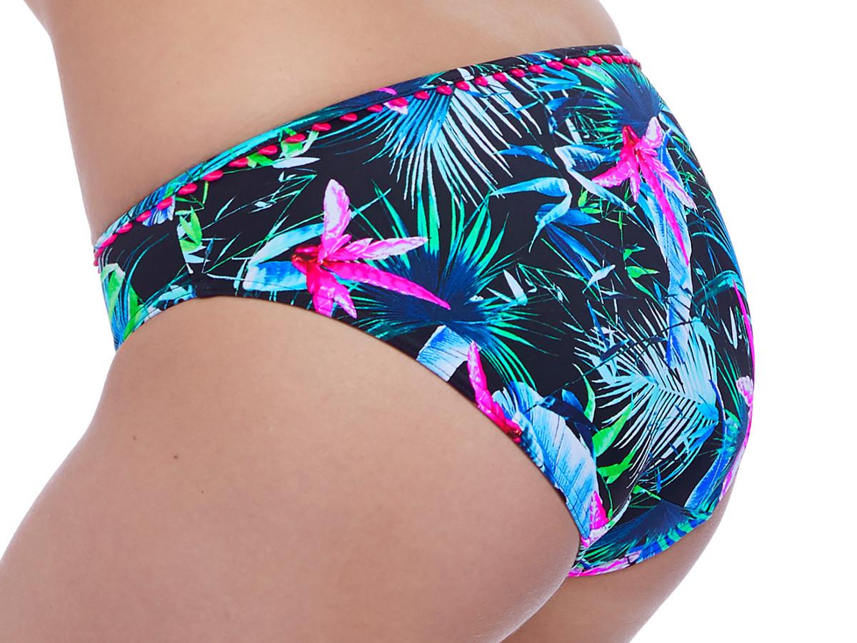 376721ac20 Plavky Freya Jungle Flower kalhotky AS5844 Black Tropical ♥ Správná ...