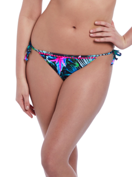Plavky Freya Jungle Flower bok kalhotky AS5845 Black Tropical