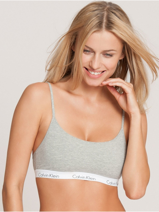 Calvin Klein One Cotton bralette QF1536E Grey
