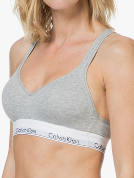 Calvin Klein Modern Cotton bralette push up QF1654E Grey