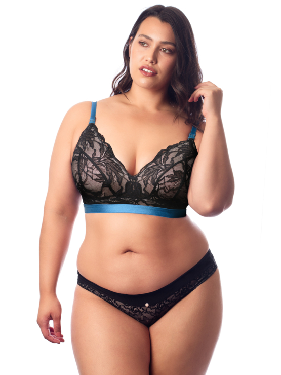 Hotmilk Allure bralette kojicí Black