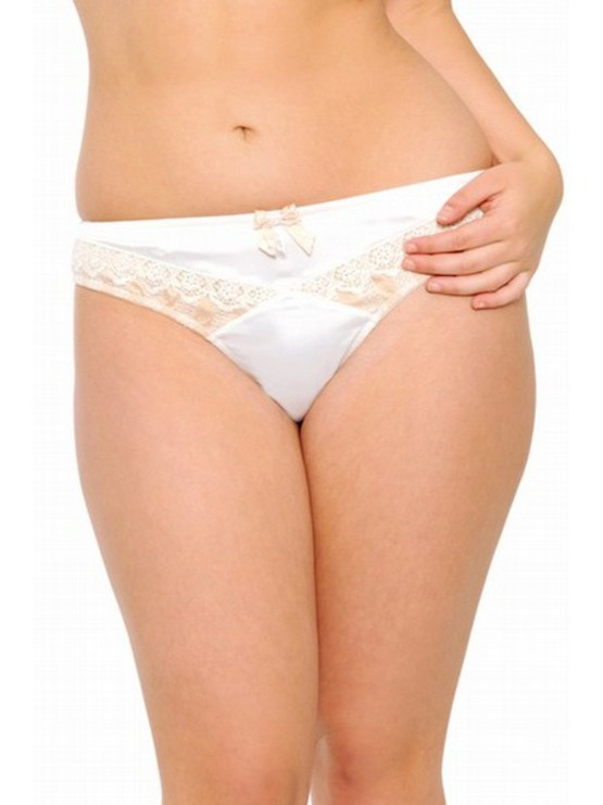 Curvy Kate Entice ivory-gold tanga