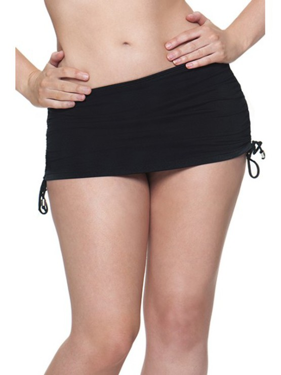 Plavky CK Jetset Black Swim Skirt
