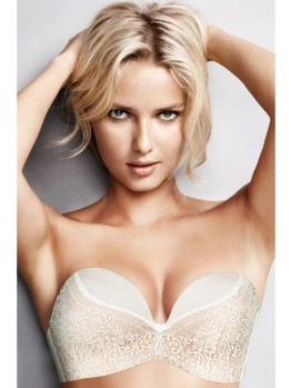 Wonderbra Ultimate Strapless Ivory Lace podprsenka